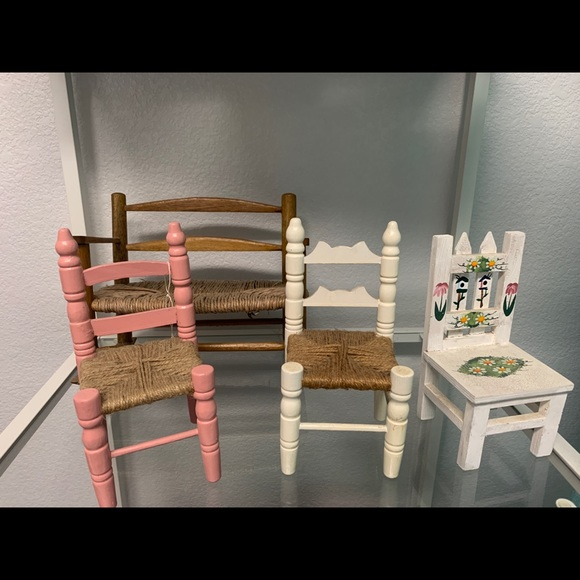 Other - COPY - 3 wooden doll chairs